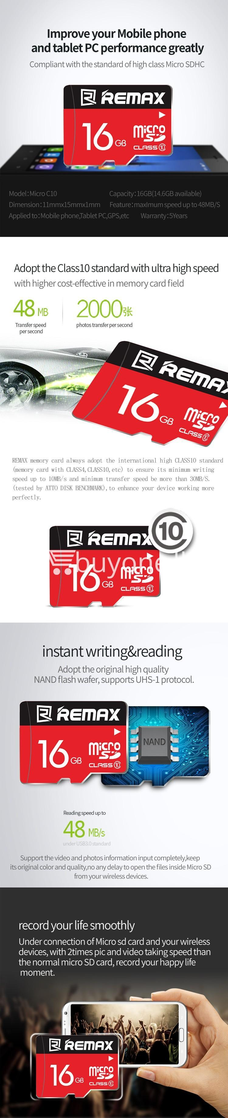 original remax 16gb memory card micro sd card class 10 mobile phone accessories special best offer buy one lk sri lanka 58972 - Original Remax 16GB Memory Card Micro SD Card Class 10