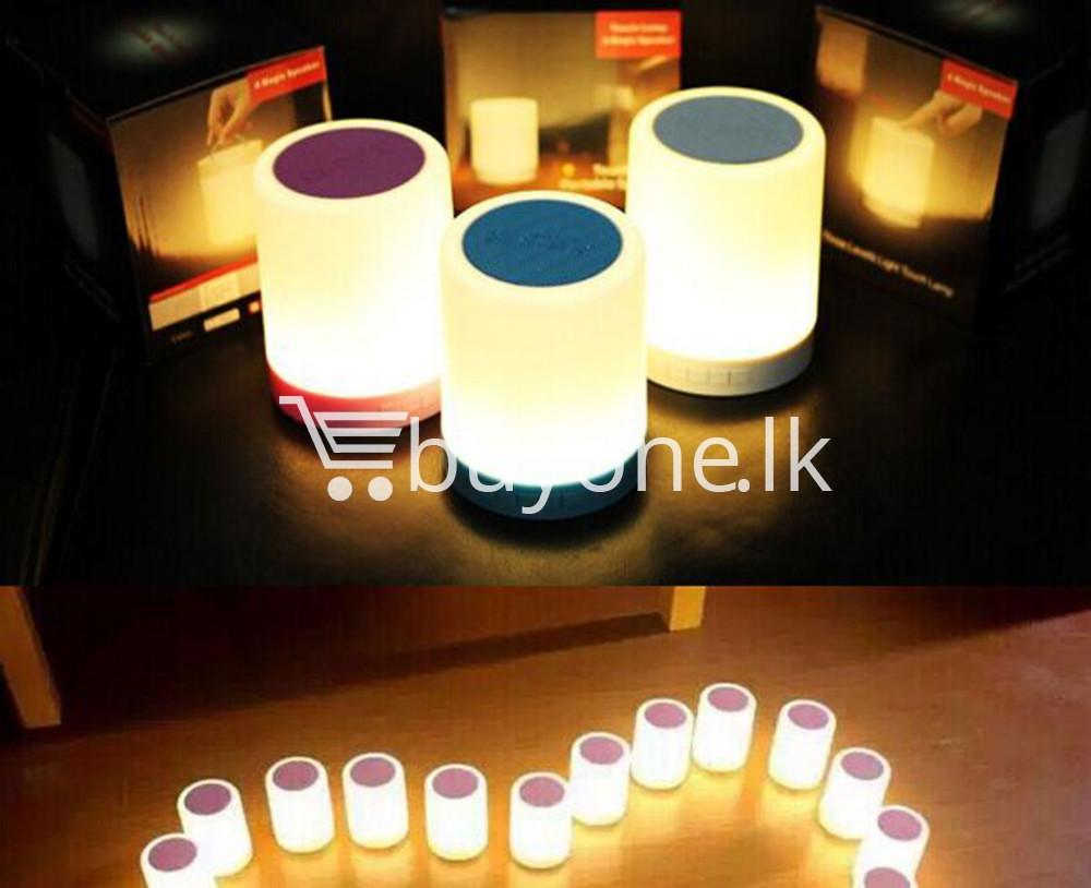 portable touch led lamp night light wireless bluetooth speaker mobile phone accessories special best offer buy one lk sri lanka 11979 - Portable Touch LED Lamp Night Light Wireless Bluetooth Speaker