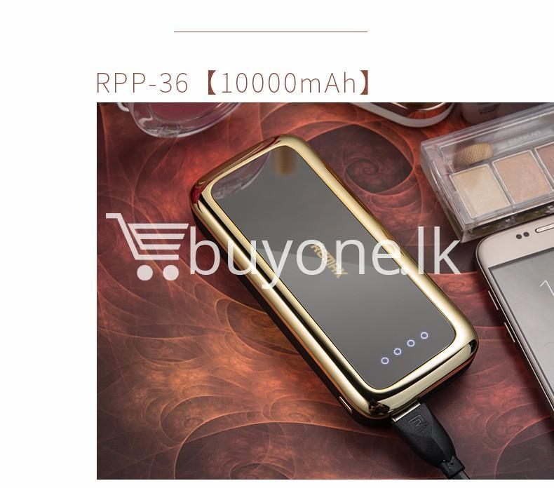 remax mirror 10000mah fashion power bank portable charger mobile store special best offer buy one lk sri lanka 81684 - Remax Mirror 10000Mah Fashion Power Bank Portable Charger