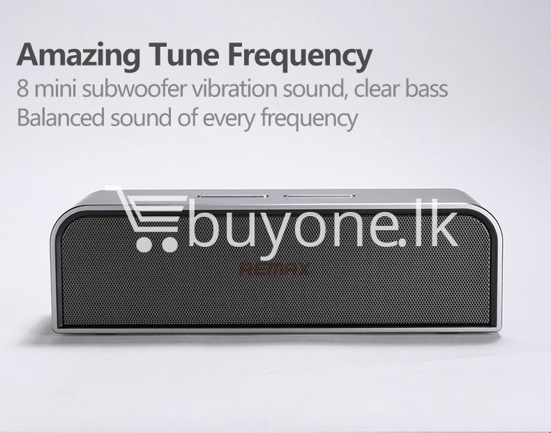 remax rb m8 portable aluminum wireless bluetooth 4.0 speakers with clear bass computer accessories special best offer buy one lk sri lanka 57645 - REMAX RB-M8 Portable Aluminum Wireless Bluetooth 4.0 Speakers with Clear Bass