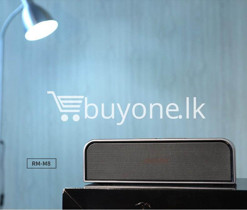 remax rb m8 portable aluminum wireless bluetooth 4.0 speakers with clear bass computer accessories special best offer buy one lk sri lanka 57651 - REMAX RB-M8 Portable Aluminum Wireless Bluetooth 4.0 Speakers with Clear Bass