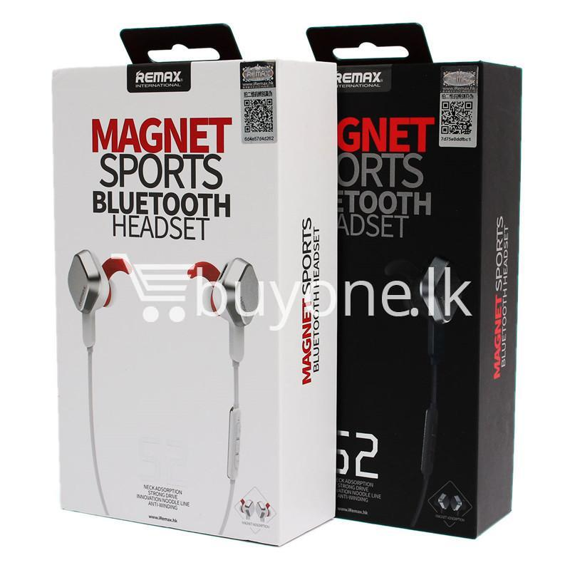 remax rm s2 new mini sports magnet wireless bluetooth headset stereo mobile phone accessories special best offer buy one lk sri lanka 48872 - REMAX RM-S2 New Mini Sports Magnet Wireless Bluetooth Headset Stereo