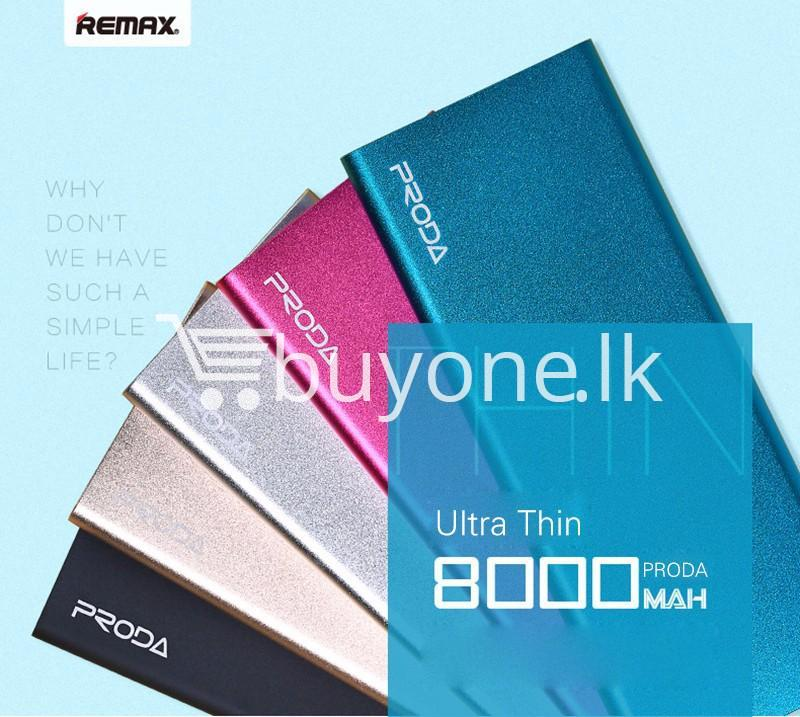 remax ultra slim power bank 8000 mah portable charger for iphone samsung htc lg mobile phone accessories special best offer buy one lk sri lanka 73729 - REMAX Ultra Slim Power Bank 8000 mAh Portable Charger For iPhone Samsung HTC LG