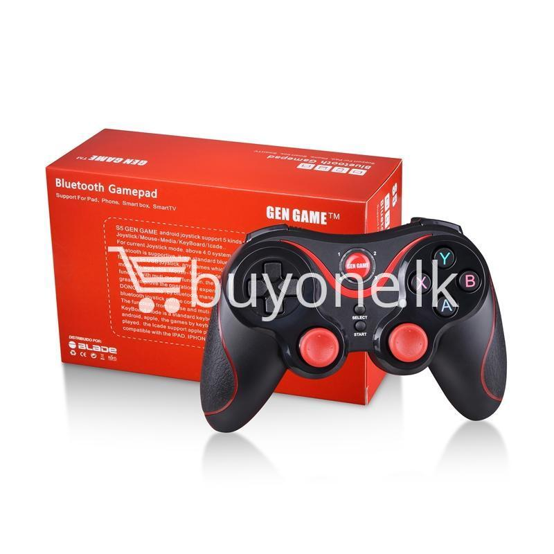 gen game s5 wireless bluetooth controller gamepad for ios android os phone tablet pc smart tv with holder special best offer buy one lk sri lanka 00580 - GEN GAME S5 Wireless Bluetooth Controller Gamepad For IOS Android OS Phone Tablet PC Smart TV With Holder