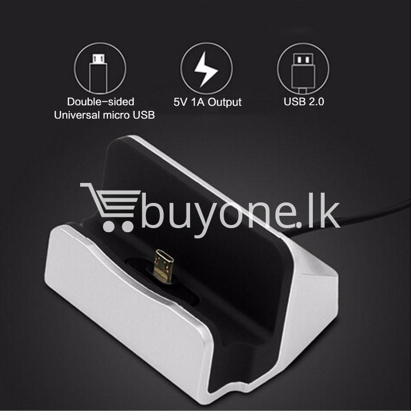 micro usb data sync desktop charging dock station for samsung htc galaxy oneplus nokia more mobile phone accessories special best offer buy one lk sri lanka 36668 - Micro USB Data Sync Desktop Charging Dock Station For Samsung HTC Galaxy OnePlus Nokia More