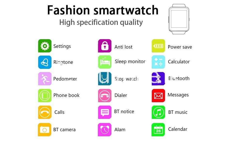 original bluetooth smart watch all in one for apple samsung htc huawei lg android xiaomi phone with simtf support mobile phone accessories special best offer buy one lk sri lanka 92950 - Original Bluetooth Smart Watch All-in-one For Apple Samsung HTC Huawei LG Android Xiaomi Phone With SIM/TF Support