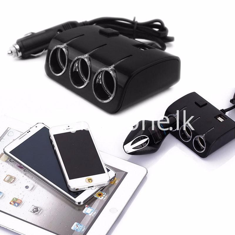 universal car sockets 3 ways with dual usb charger for iphone samsung htc nokia automobile store special best offer buy one lk sri lanka 19853 - Universal Car Sockets 3 Ways with Dual USB Charger For iPhone Samsung HTC Nokia