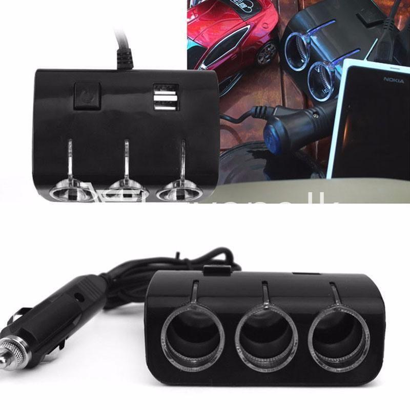 universal car sockets 3 ways with dual usb charger for iphone samsung htc nokia automobile store special best offer buy one lk sri lanka 19854 - Universal Car Sockets 3 Ways with Dual USB Charger For iPhone Samsung HTC Nokia