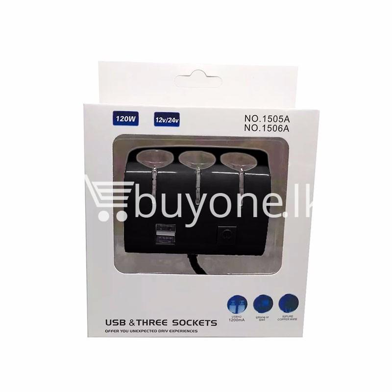 universal car sockets 3 ways with dual usb charger for iphone samsung htc nokia automobile store special best offer buy one lk sri lanka 19867 - Universal Car Sockets 3 Ways with Dual USB Charger For iPhone Samsung HTC Nokia