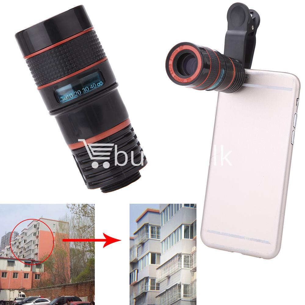 universal special design 8x zoom phone lens telephoto camera lens for iphone samsung htc xiaomi mobile phone accessories special best offer buy one lk sri lanka 22875 - Universal Special Design 8X Zoom Phone Lens Telephoto Camera Lens For iPhone Samsung HTC Xiaomi