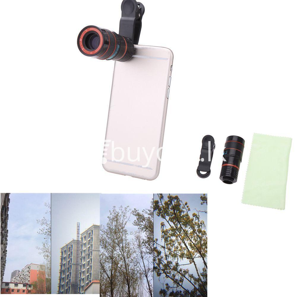 universal special design 8x zoom phone lens telephoto camera lens for iphone samsung htc xiaomi mobile phone accessories special best offer buy one lk sri lanka 22888 - Universal Special Design 8X Zoom Phone Lens Telephoto Camera Lens For iPhone Samsung HTC Xiaomi