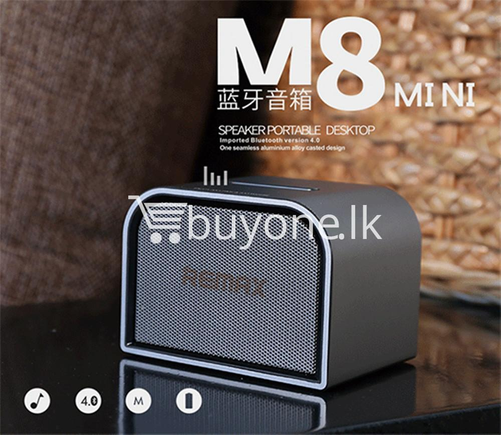 remax m8 mini desktop bluetooth 4.0 speaker deep bass aluminum mobile phone accessories special best offer buy one lk sri lanka 60114 - Remax M8 Mini Desktop Bluetooth 4.0 Speaker Deep Bass Aluminum