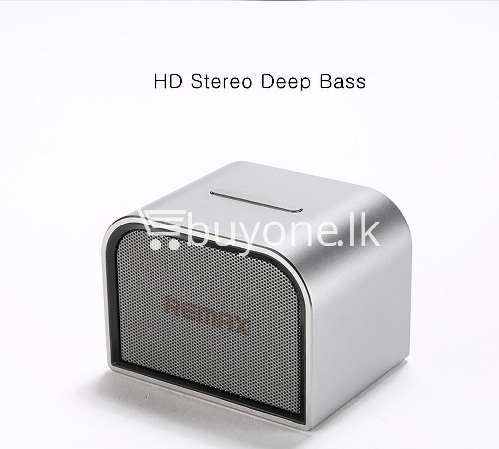 remax m8 mini desktop bluetooth 4.0 speaker deep bass aluminum mobile phone accessories special best offer buy one lk sri lanka 60118 - Remax M8 Mini Desktop Bluetooth 4.0 Speaker Deep Bass Aluminum