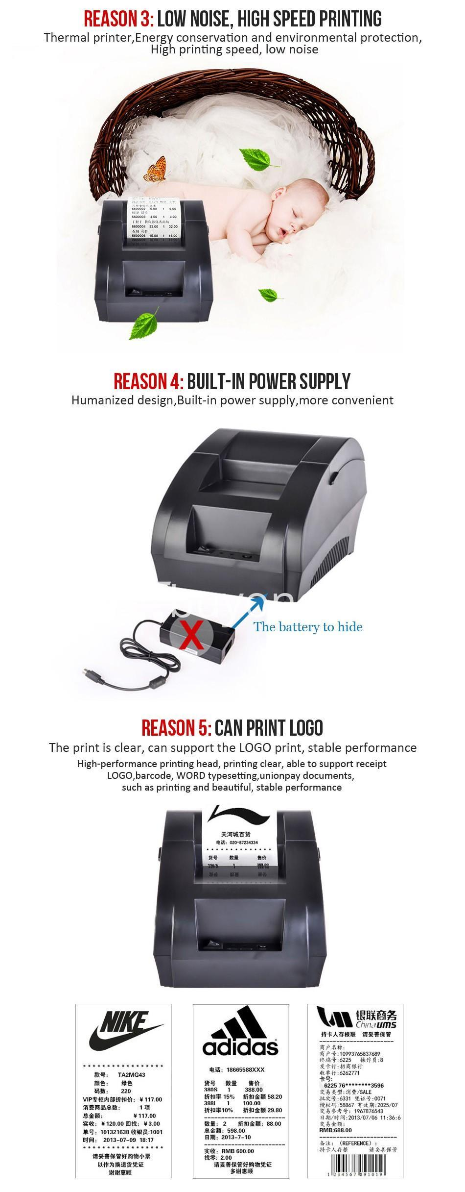 new 58mm thermal receipt printer pos with usb port computer store special best offer buy one lk sri lanka 44627 - New 58mm Thermal Receipt Printer POS with USB Port