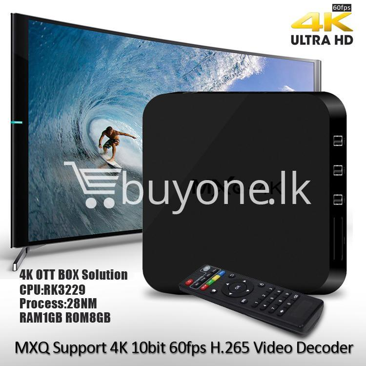 mxq 4k smart tv box kodi 15.2 preinstalled android 5.1 1g8g h.264h.265 10bit wifi lan hdmi dlna airplay miracast mobile phone accessories special best offer buy one lk sri lanka 50937 - MXQ 4K Smart TV Box KODI 15.2 Preinstalled Android 5.1 1G/8G H.264/H.265 10Bit WIFI LAN HDMI DLNA AirPlay Miracast