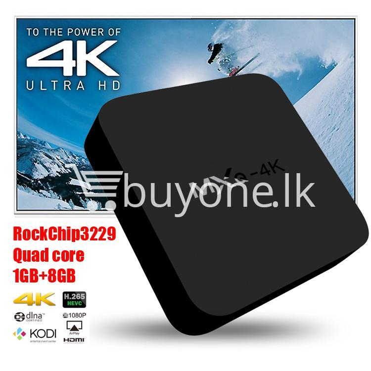 mxq 4k smart tv box kodi 15.2 preinstalled android 5.1 1g8g h.264h.265 10bit wifi lan hdmi dlna airplay miracast mobile phone accessories special best offer buy one lk sri lanka 50938 - MXQ 4K Smart TV Box KODI 15.2 Preinstalled Android 5.1 1G/8G H.264/H.265 10Bit WIFI LAN HDMI DLNA AirPlay Miracast