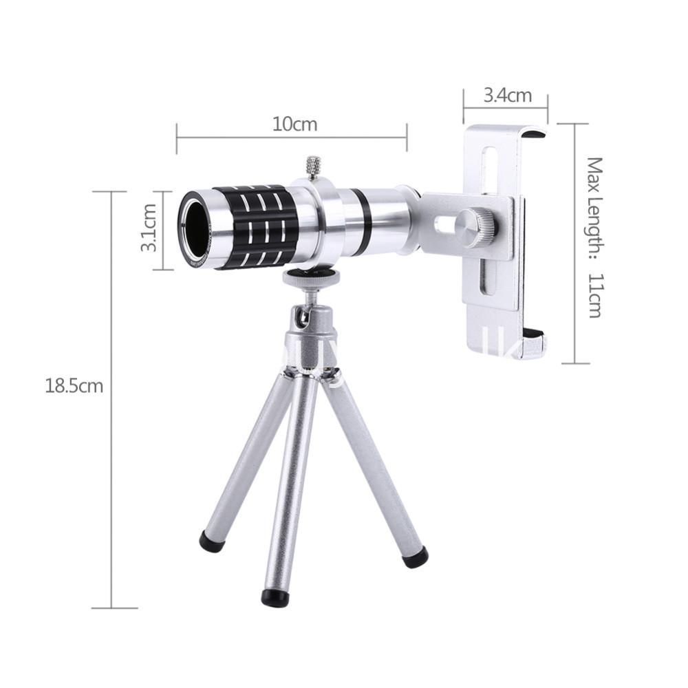 12x zoom camera telephoto telescope lens mount tripod kit for iphone xiaomi samsung huawei htc universal mobile phone accessories special best offer buy one lk sri lanka 06555 - 12X Zoom Camera Telephoto Telescope Lens + Mount Tripod Kit For iPhone Xiaomi Samsung Huawei HTC Universal