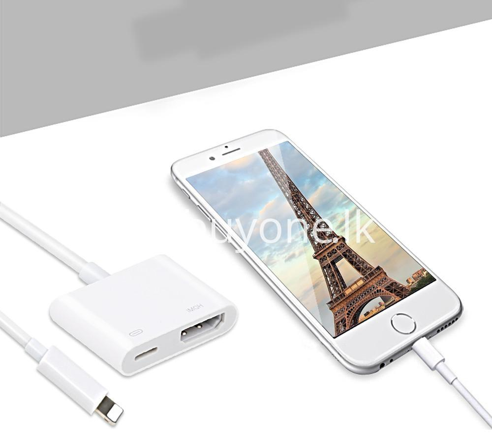 original hdmi hdtv tv lightning digital av adapter cable for iphone high resolution 1080p mobile phone accessories special best offer buy one lk sri lanka 46601 - Original HDMI/ HDTV TV Lightning Digital  AV Adapter Cable For iPhone High Resolution 1080P