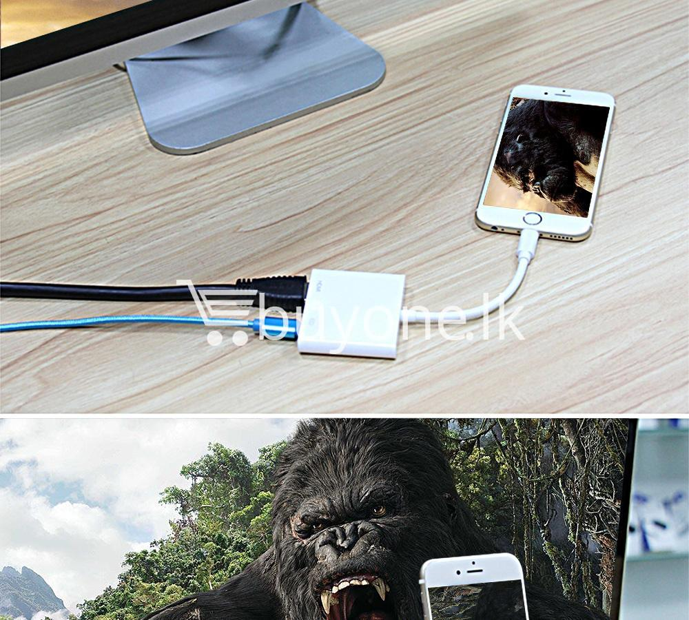 original hdmi hdtv tv lightning digital av adapter cable for iphone high resolution 1080p mobile phone accessories special best offer buy one lk sri lanka 46610 - Original HDMI/ HDTV TV Lightning Digital  AV Adapter Cable For iPhone High Resolution 1080P