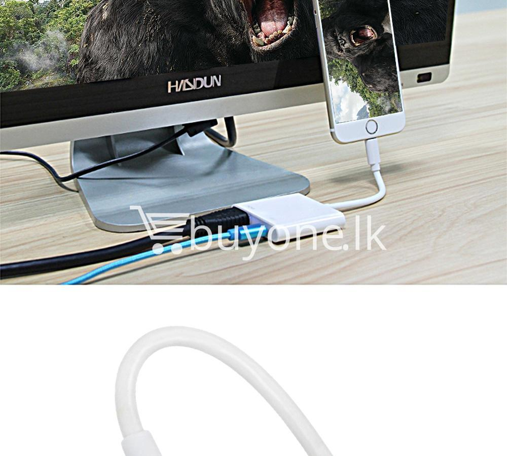 original hdmi hdtv tv lightning digital av adapter cable for iphone high resolution 1080p mobile phone accessories special best offer buy one lk sri lanka 46612 - Original HDMI/ HDTV TV Lightning Digital  AV Adapter Cable For iPhone High Resolution 1080P