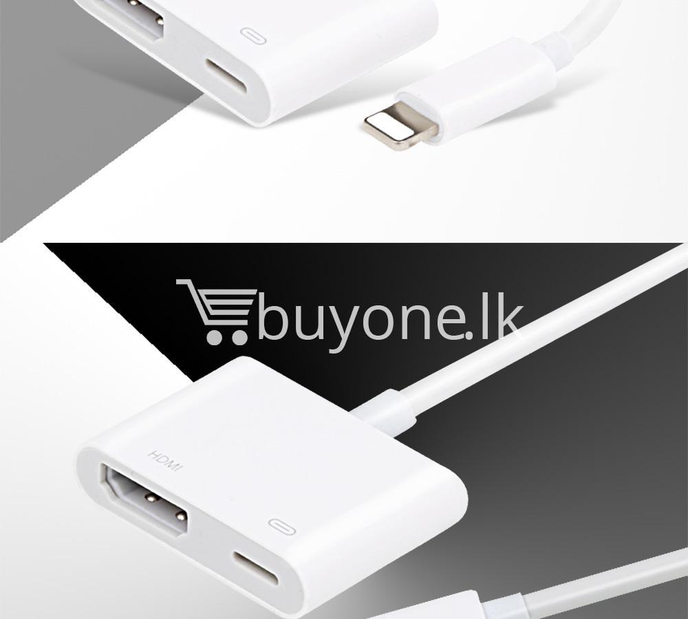 original hdmi hdtv tv lightning digital av adapter cable for iphone high resolution 1080p mobile phone accessories special best offer buy one lk sri lanka 46615 - Original HDMI/ HDTV TV Lightning Digital  AV Adapter Cable For iPhone High Resolution 1080P