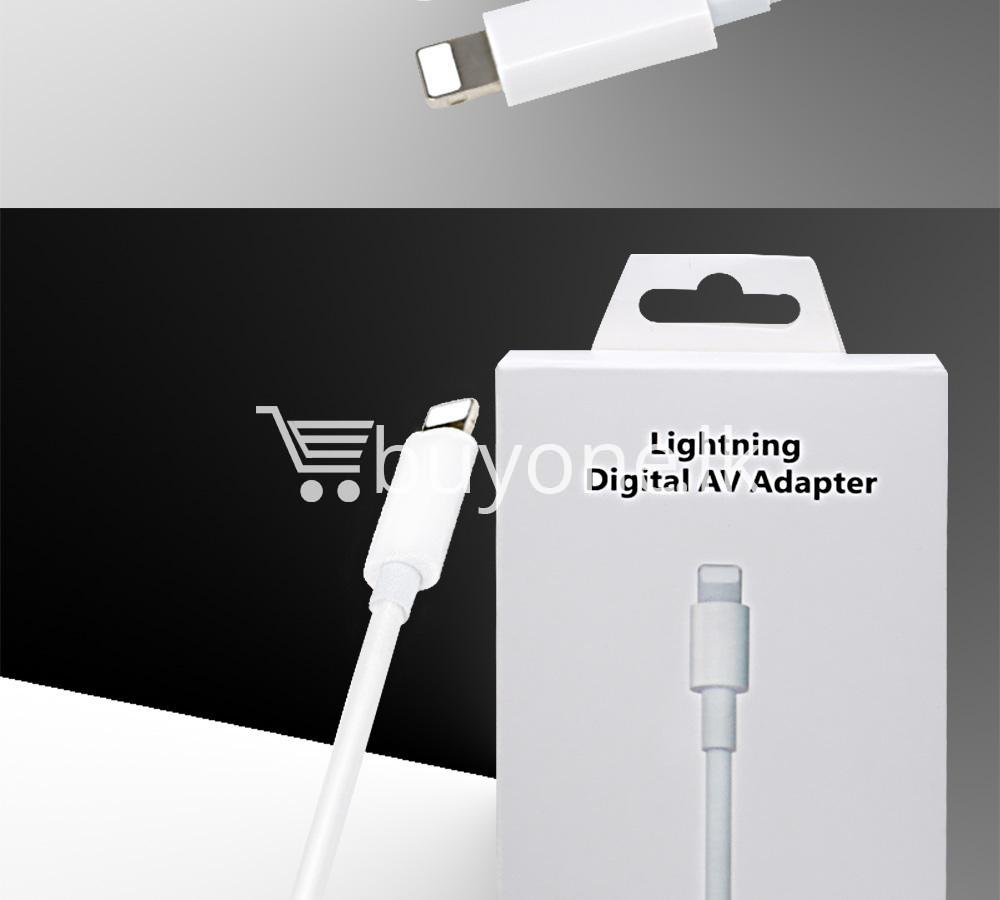 original hdmi hdtv tv lightning digital av adapter cable for iphone high resolution 1080p mobile phone accessories special best offer buy one lk sri lanka 46617 - Original HDMI/ HDTV TV Lightning Digital  AV Adapter Cable For iPhone High Resolution 1080P