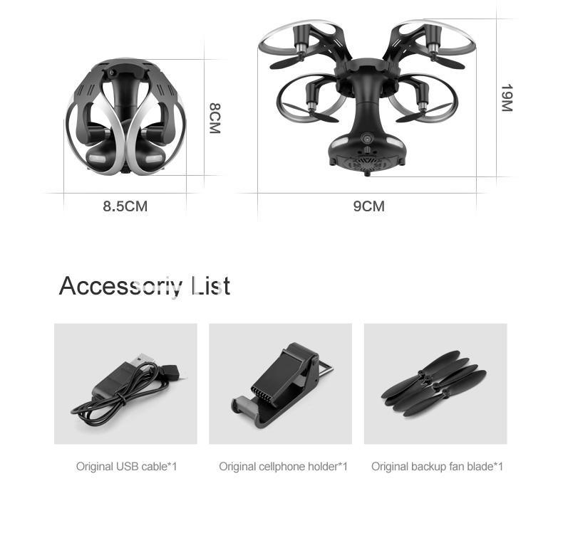 sirius alpha edrone wifi folding drone with controller phone holder action camera special best offer buy one lk sri lanka 04928 - Sirius Alpha EDRONE Wifi Folding Drone with Controller + Phone Holder