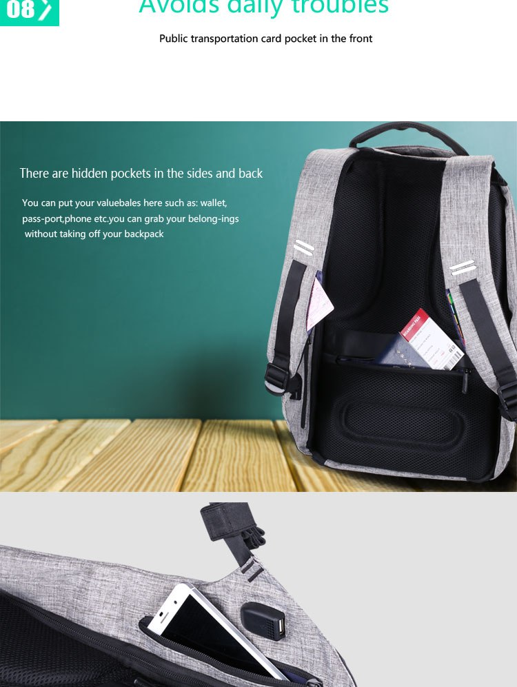 new multi function waterproof anti theft laptop backpacks with usb charging computer accessories special best offer buy one lk sri lanka 67181 - New Multi function Waterproof Anti theft Laptop Backpacks with USB Charging