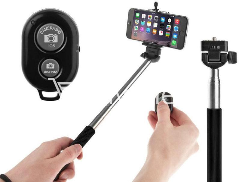 monopod selfie stick with free selfie remote ver 2 3 online shopping store send. Black Bedroom Furniture Sets. Home Design Ideas