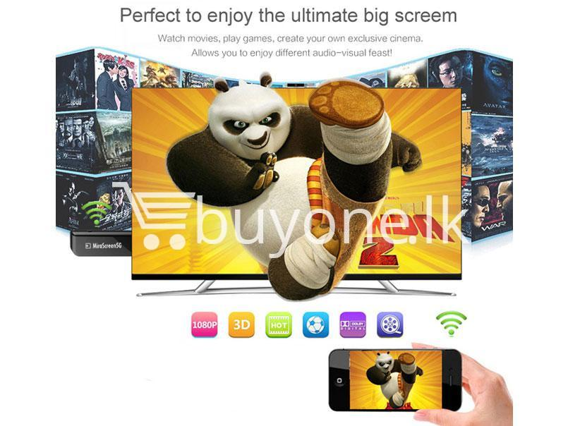 mirascreen wireless 1080p hdmi wifi display tv dongle miracast receiver for iphone samsung htc lg windows phone send gift christmas seasonal offer sri lanka buyone lk 3 Connect Phone to TV Wireless in 1080p HDMI WiFi Display TV Dongle Miracast Receiver For iPhone, Samsung, HTC, LG, Windows Phone
