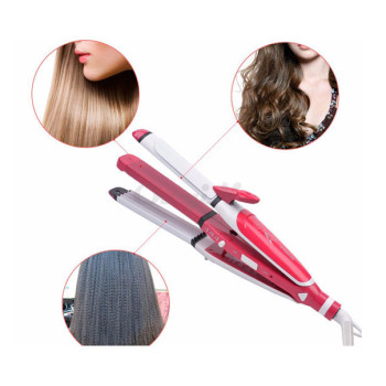 nova-3-in-1-hair-professional-straightener-fast-bun-hair-curler-care-dryer-roller-tourmaline-ceramic-send-gift-christmas-seasonal-offer-sri-lanka-buyone-lk