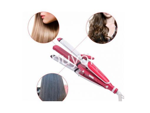 nova-3-in-1-hair-professional-straightener-fast-bun-hair-curler-care-dryer-roller-tourmaline-ceramic-send-gift-christmas-seasonal-offer-sri-lanka-buyone-lk