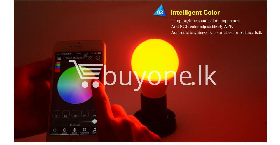 bluetooth smart led bulb for home hotel with warranty home and kitchen special best offer buy one lk sri lanka 73867 - Bluetooth Smart LED Bulb For Home Hotel with Warranty