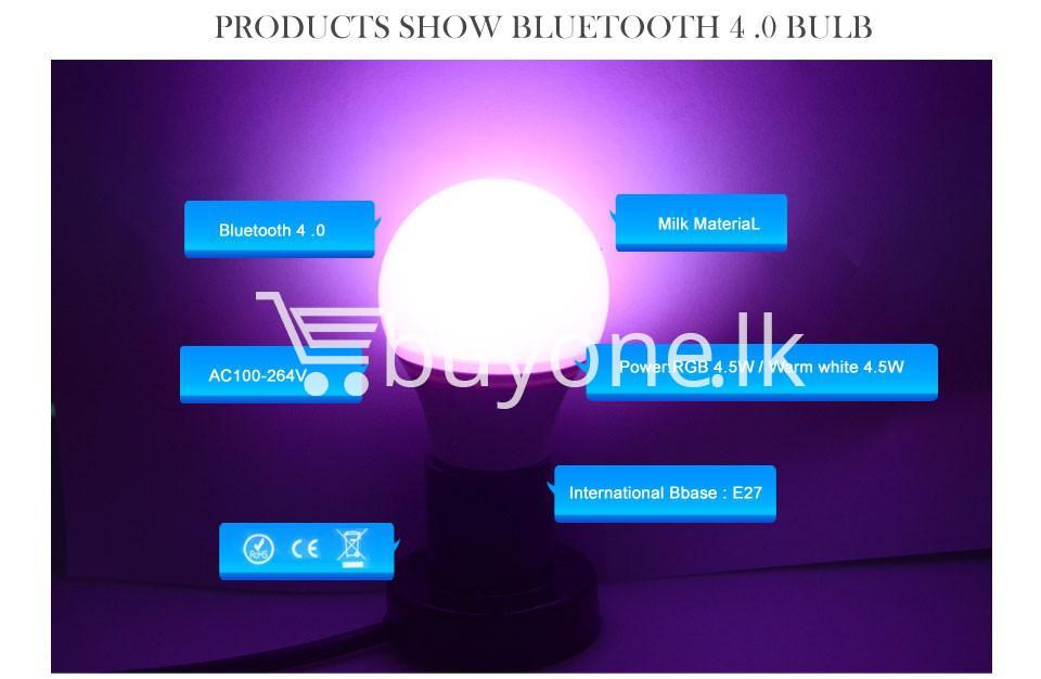 bluetooth smart led bulb for home hotel with warranty home and kitchen special best offer buy one lk sri lanka 73871 - Bluetooth Smart LED Bulb For Home Hotel with Warranty