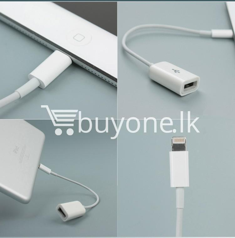 lightning to usb otg cable for iphone 55s6 ipad 4 and ipad mini mobile store special best offer buy one lk sri lanka 14645 Lightning to USB OTG Cable for iphone 5/5s/6 iPad 4 and iPad Mini