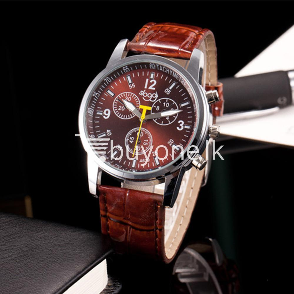 luxury crocodile faux leather mens analog watch men watches special best offer buy one lk sri lanka 10534 1 - Luxury Crocodile Faux Leather Mens Analog Watch