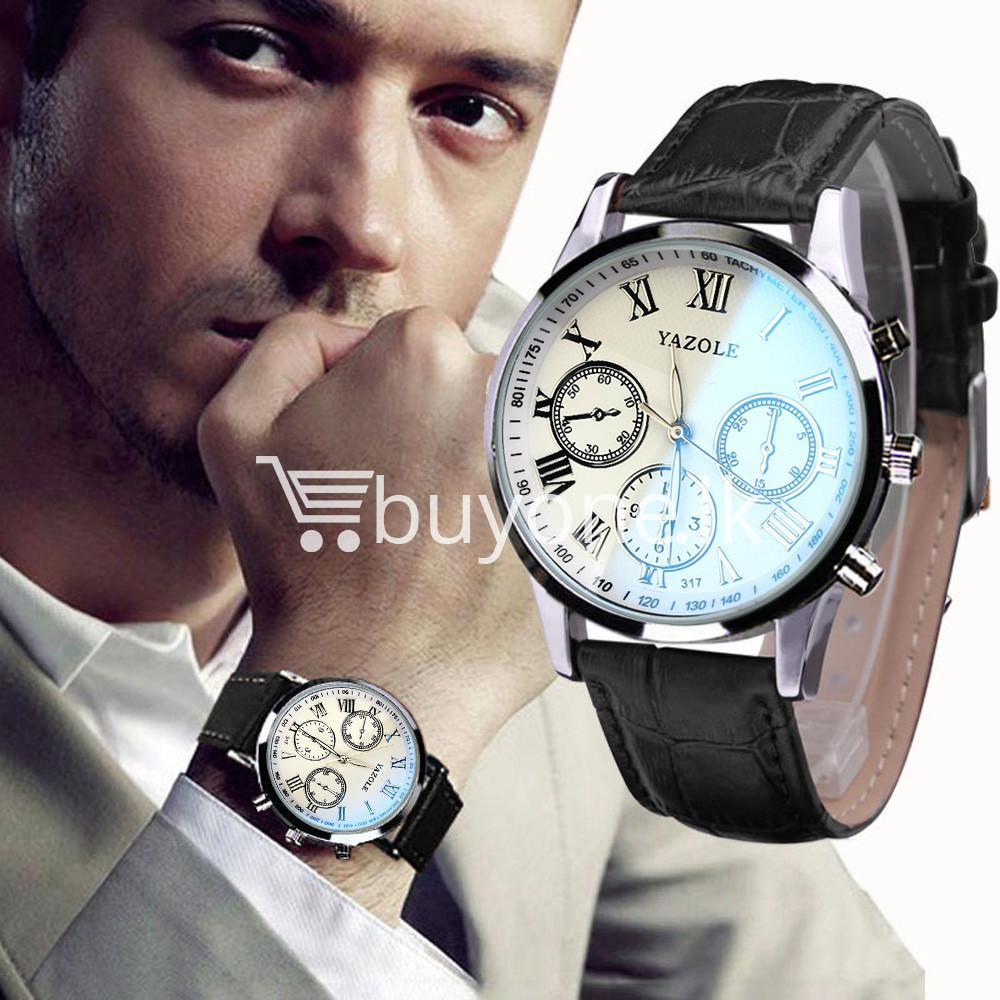 luxury fashion mens blue ray glass quartz analog watch men watches special best offer buy one lk sri lanka 10950 1 - Luxury Fashion Mens Blue Ray Glass Quartz Analog Watch
