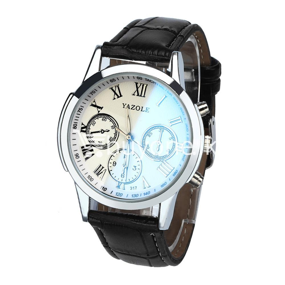 luxury fashion mens blue ray glass quartz analog watch men watches special best offer buy one lk sri lanka 10951 1 - Luxury Fashion Mens Blue Ray Glass Quartz Analog Watch