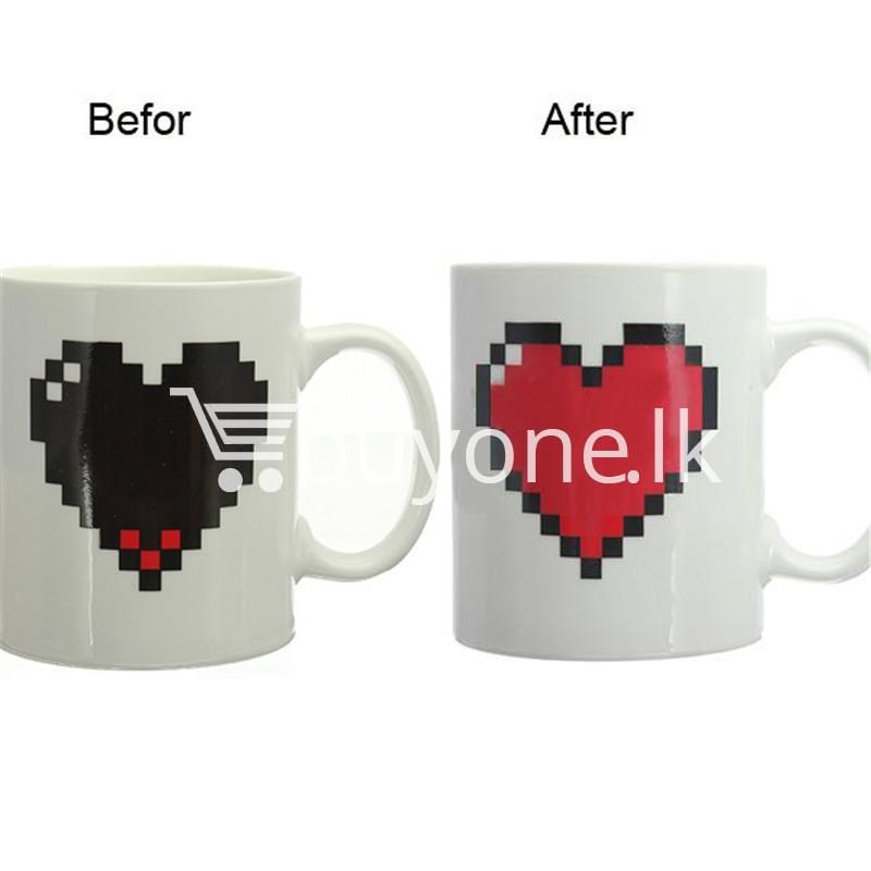 magic heart hot cold coffee mug for couples lovers home and kitchen special best offer buy one lk sri lanka 61983 2 Magic Heart Hot Cold Coffee Mug For Couples & Lovers