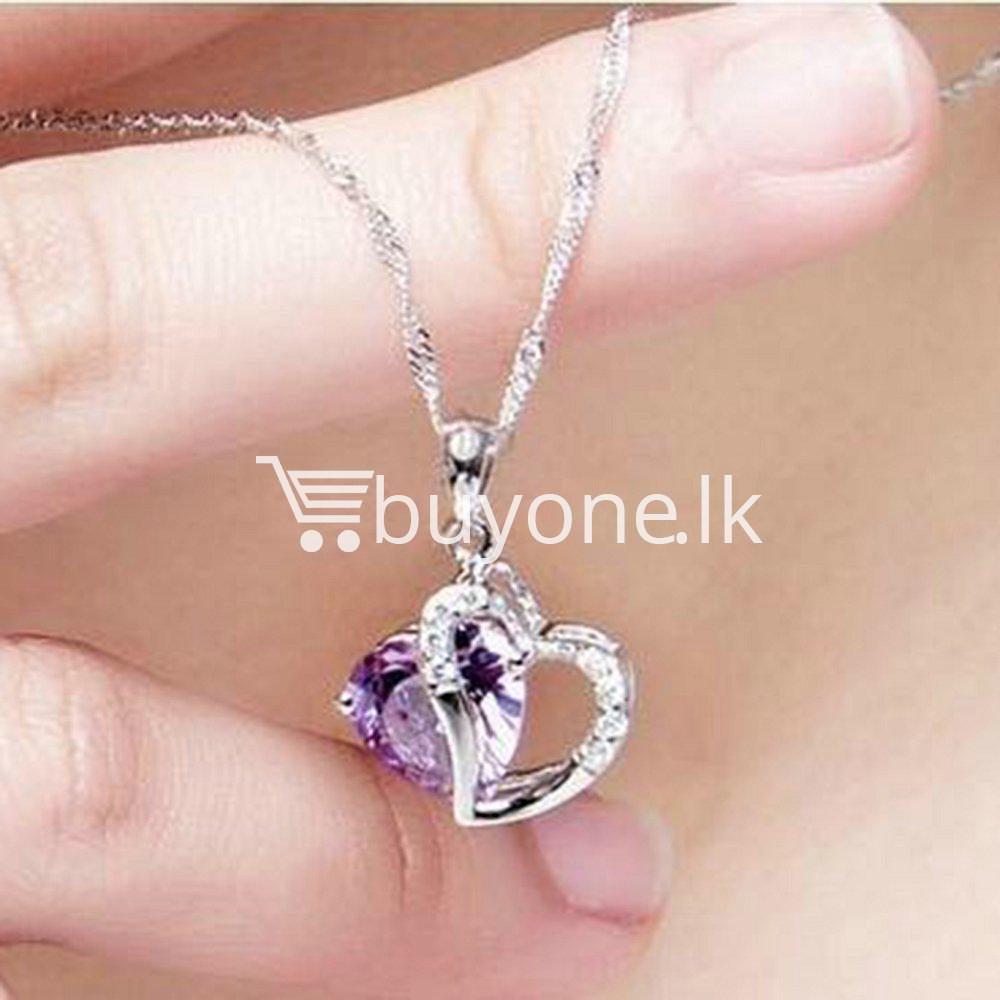 Best Deal | New Crystal Pendant Necklaces Heart Chain Valentine ...