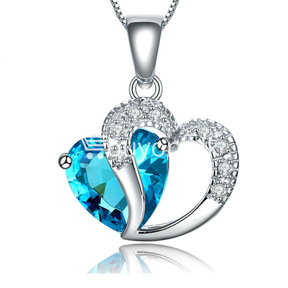 new crystal pendant necklaces heart chain valentine gifts jewelry store special best offer buy one lk sri lanka 11943 - New Crystal Pendant Necklaces Heart Chain Valentine Gifts