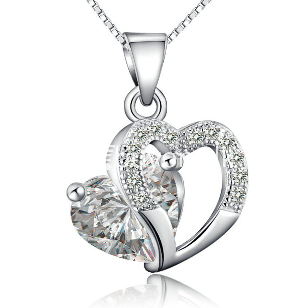 new crystal pendant necklaces heart chain valentine gifts jewelry store special best offer buy one lk sri lanka 11944 - New Crystal Pendant Necklaces Heart Chain Valentine Gifts