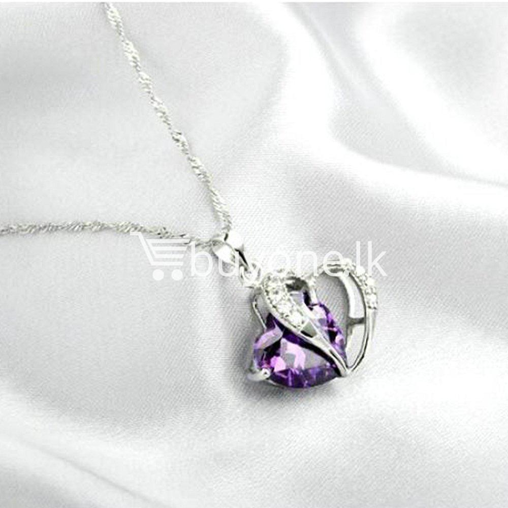 new crystal pendant necklaces heart chain valentine gifts jewelry store special best offer buy one lk sri lanka 11945 - New Crystal Pendant Necklaces Heart Chain Valentine Gifts