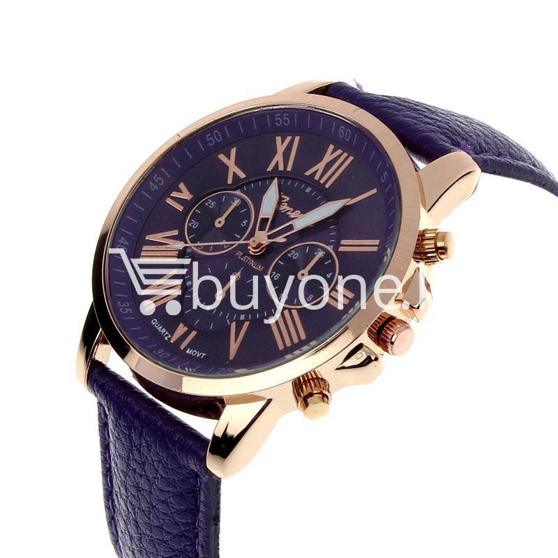 new geneva casual roman numerals quartz women wrist ...
