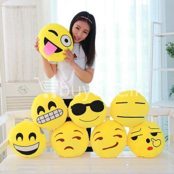 soft emotional smiley yellow round cushion pillow home-and-kitchen special best offer buy one lk sri lanka 10743.jpg
