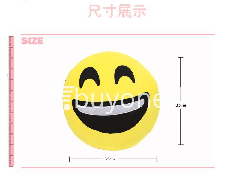 soft emotional smiley yellow round cushion pillow home and kitchen special best offer buy one lk sri lanka 10748 - Soft Emotional Smiley Yellow Round Cushion Pillow