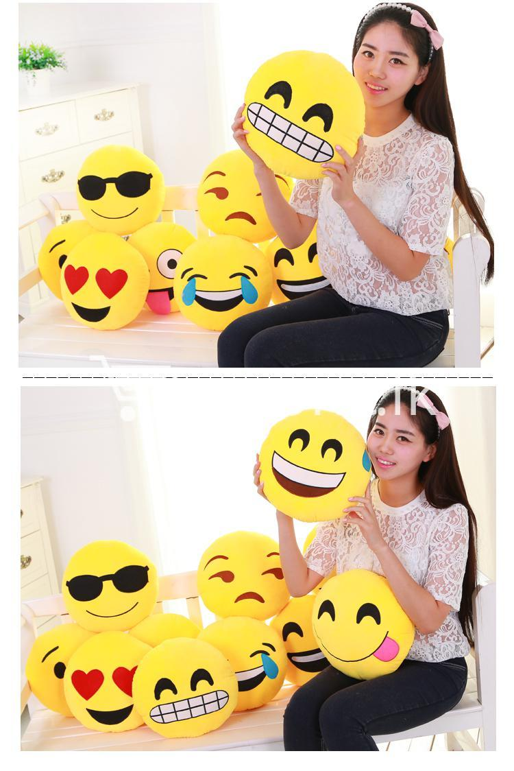 soft emotional smiley yellow round cushion pillow home and kitchen special best offer buy one lk sri lanka 10750 - Soft Emotional Smiley Yellow Round Cushion Pillow
