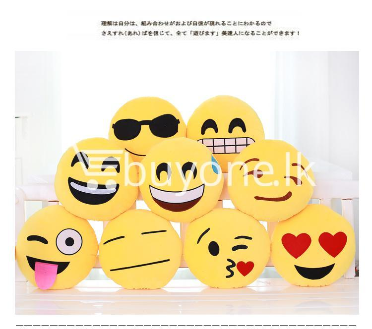 soft emotional smiley yellow round cushion pillow home and kitchen special best offer buy one lk sri lanka 10752 1 Soft Emotional Smiley Yellow Round Cushion Pillow