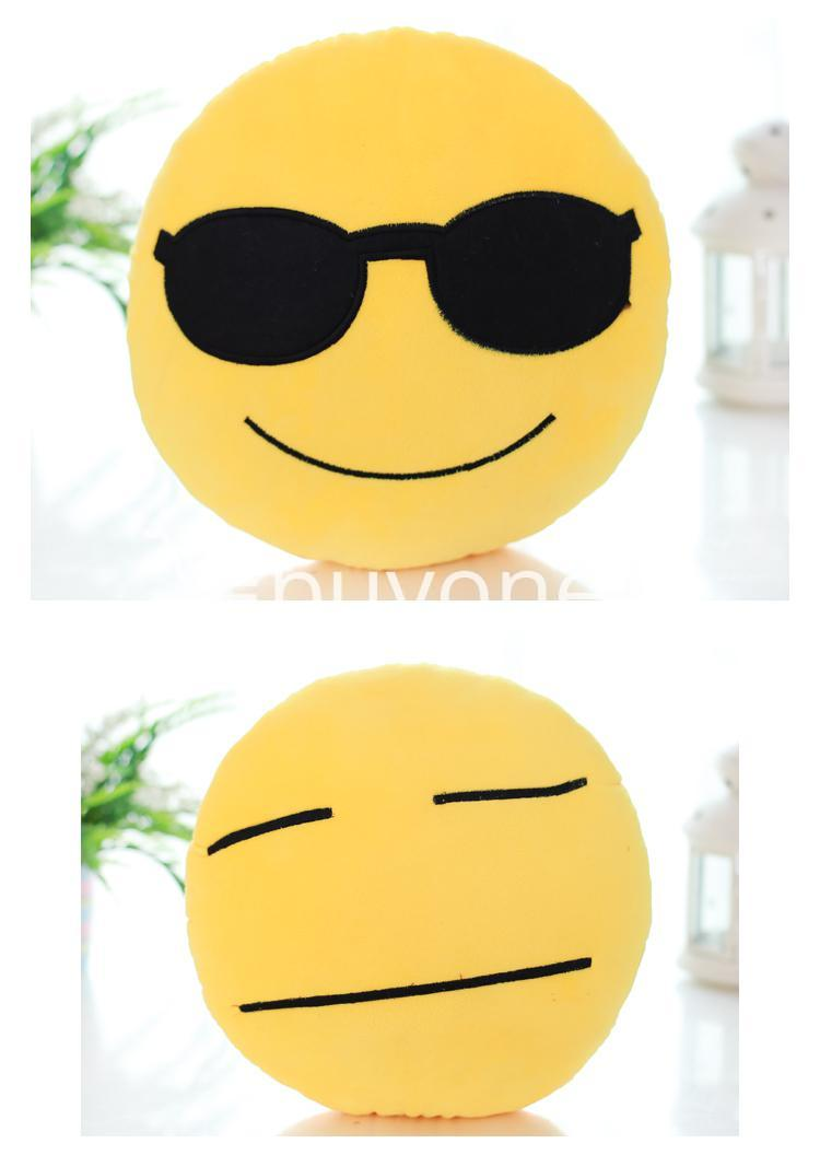 soft emotional smiley yellow round cushion pillow home and kitchen special best offer buy one lk sri lanka 10753 1 - Soft Emotional Smiley Yellow Round Cushion Pillow