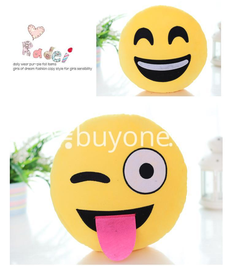 soft emotional smiley yellow round cushion pillow home and kitchen special best offer buy one lk sri lanka 10753 - Soft Emotional Smiley Yellow Round Cushion Pillow